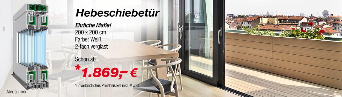 Hebeschiebetür zum günstigen Preis online kaufen   fenster24.de