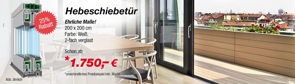 Hebeschiebetür zum günstigen Preis online kaufen | fenster24.de