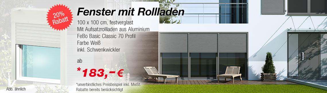 fenster mit rollladen g nstig online kaufen. Black Bedroom Furniture Sets. Home Design Ideas