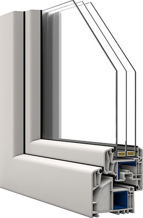 Veka alphaline 90 70x70cm 3 fach glas drehkipp links for Kunststofffenster angebote